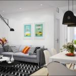 Часть 1. скандинавская квартира с очаровательным дизайном интерьера.