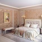 Правильный выбор материалов для спальни в классическом стиле.