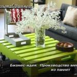 Бизнес-план: производство мебели из паллет.