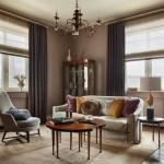 Квартира в стиле нео - ретро сочетает в себе элементы прошлого и современного подходов к оформлению интерьеров.