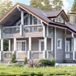 Привлекательный и современный дом из профилированного бруса с мансардой.
