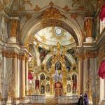 Собор спаса нерукотворного (большая церковь зимнего дворца) в Санкт-петербурге - православный дворцовый храм.