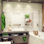 Интерьер небольшой ванной комнаты 4 кв.