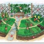Декоративный огород.  Идея.