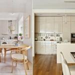 Бежевый цвет в интерьере кухни.