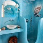Идеи интерьера.  Море в ванной.