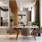 Проект квартиры 80 кв м с перепланировкой/кухня.