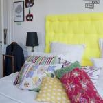 Мы декорируем изголовье кровати в скандинавском стиле.