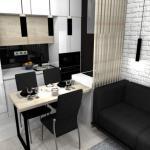 Дизайн квартиры - студии в современном стиле.