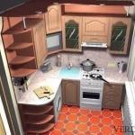 Совет 1: как обставить кухню площадью 6 метров: полезные советы.