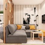 Маленькая квартира - студия, общей площадью 30 м 2.